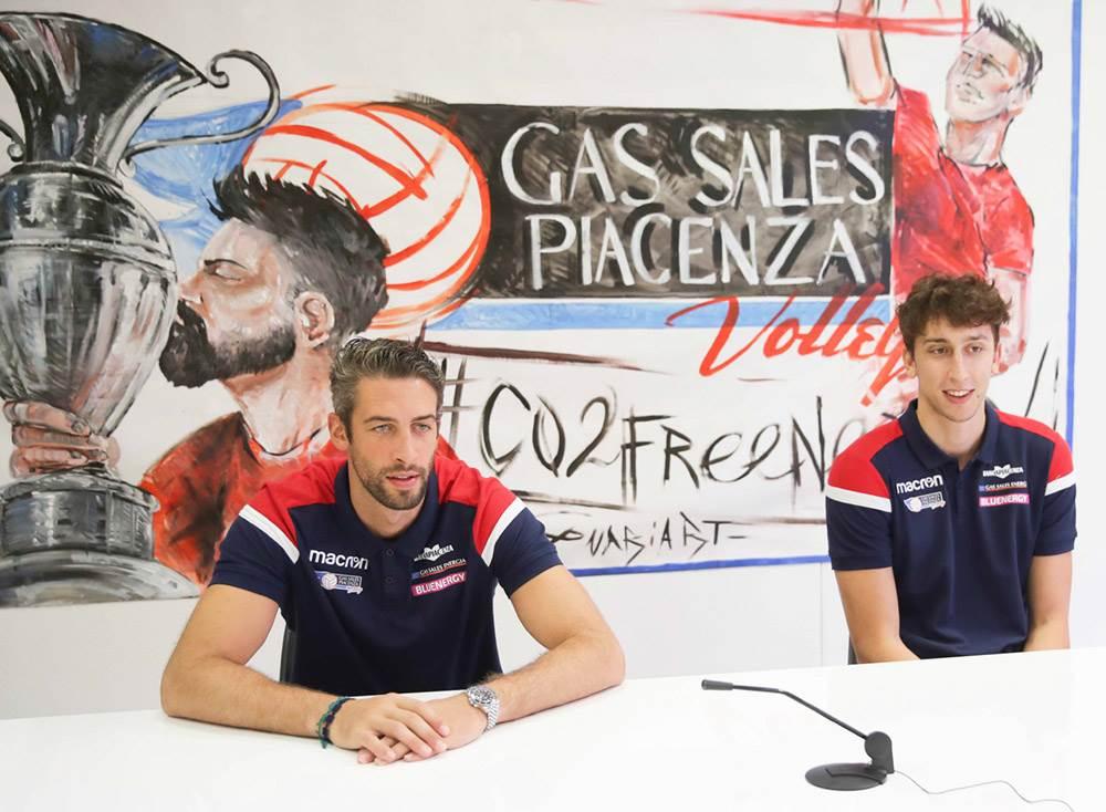 La Gas Sales Bluenergy Volley Piacenza presenta Davide Candellaro e Alberto Polo image