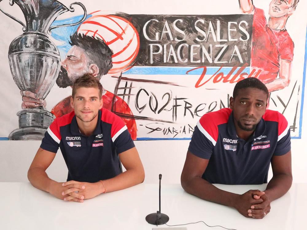 Presentati Clevenot e Hierrenzuelo: Siamo pronti a lottare per la Gas Sales Bluenergy Volley Piacenza image